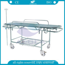 AG-HS015 CE approuvé civière médicale de transfert de meubles d'hôpital en acier inoxydable