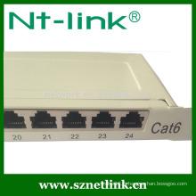 Panneau de raccordement blanc 0.5U USB de 0.5U