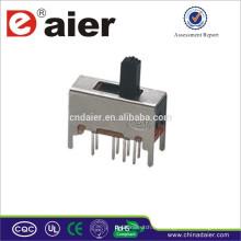 Mini interruptor deslizante SS23D03 hecho en China interruptor deslizante a prueba de agua