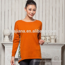 fashion printing woman's wool sweater
