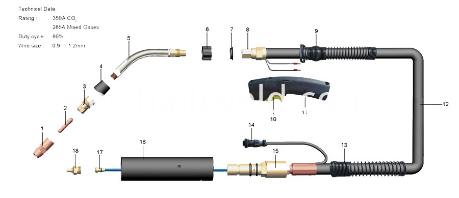 Q400 Migmag Welding Torch