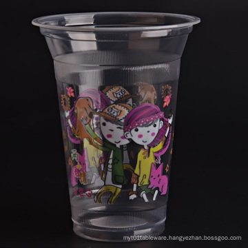 Plastic Clear Cup with Flat Lids