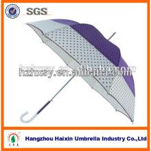 Parapluie droit semi automatique de montage imprimé fleur Auto Open