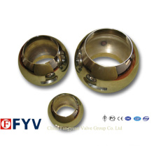 Bola de válvula de acero inoxidable de alta calidad