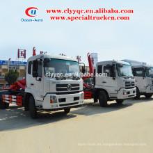 Dongfeng kingrun contenedor camión de basura extraíble para la venta