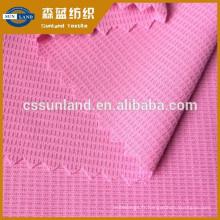 100 polyester 40+ tissu mech anti-UV évacuant la transpiration anti-UV maille piqué Coolmax SPF 50+