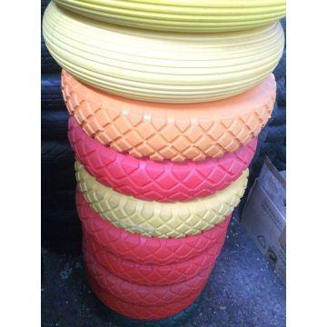 Colores carretilla rueda de goma espuma PU 400-8