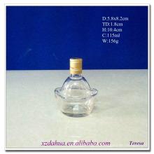115ml Ingot Shaped Glass Wine Liquor Bottle