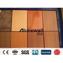 fireproof wooden grain Aluminium Composite Panel decorative kitchen wall panels/max 2 meter width