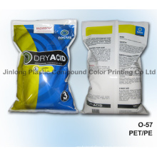 Chemical Plastic Packaging Bag with Bottom Gusset and Zipper