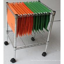 Ajustável arquivo de metal armazenamento de metal carrinho / metal arquivo carrinho (cj-a1207)