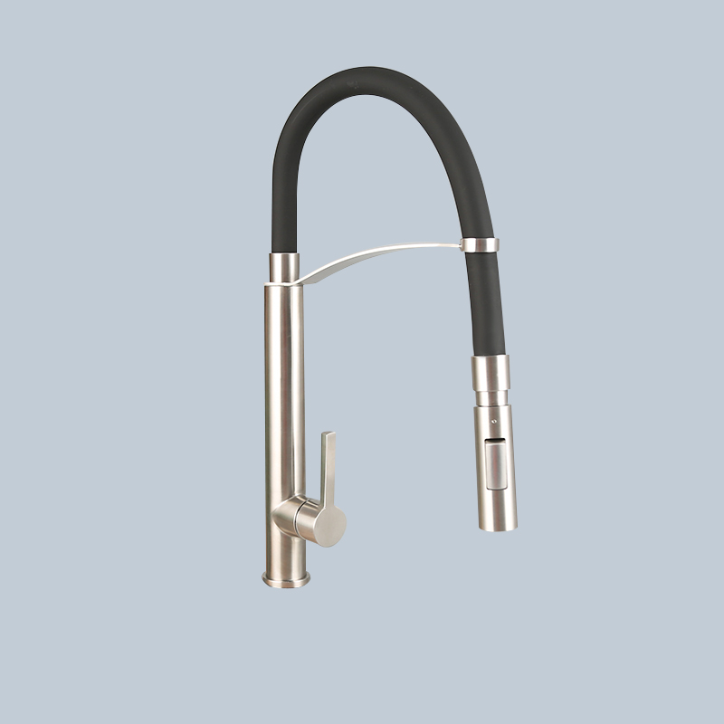 Stainless Black Steel Hose Type Kitchen Faucet 1