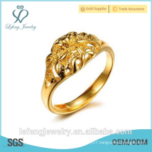 Wholesale price high polished gold plated infinity ring modern gold plated rings