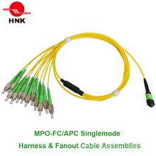 12 Cores MPO FC / APC Ensembles de câbles et câbles de ventilation