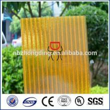 hoja cristalina barata del sol de la PC / pc hueco panel / hoja de la luz del sol de la PC fábrica