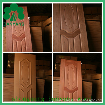 Latest Design Double Convex Series HDF Wood Veneer Door Skin