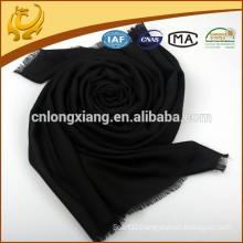 Best Selling Factory Price Woman Black Long Wool Scarf