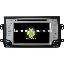 Android System lecteur dvd de voiture pour Suzuki SX4 avec GPS, Bluetooth, 3G, ipod, jeux, double zone, contrôle du volant