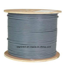 Data Center 10g 600MHz CAT6A Shielded STP LAN Cable Gray