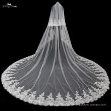 TA037 Applique mit Perle weichen Tüll Hochzeit Schleier