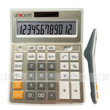 12 Digits Dual Power Gold Metal Color Office Calculator (CA1092B-G)