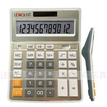 Calculatrice de bureau de couleur douce en métal de 12 chiffres (CA1092B-G)