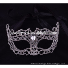 fashion metal silver plated crystal sex halloween mask for anubis