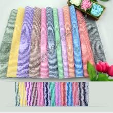 Heißer Verkauf Lager 100% Polyester gedruckt Mikrofaser gestreiften Stoff Breite 150 cm für Heimtextilien