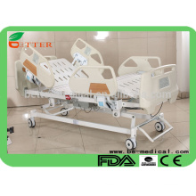 ICU five function hospital bed with PP siderail