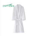 Hotel linen/White color 100% cotton hotel bathrobe ,terry bathrobe,towel bathrobe