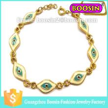 Bijoux personnalisés Infinity Gold Hamsa Evil Eye Bracelet pour homme