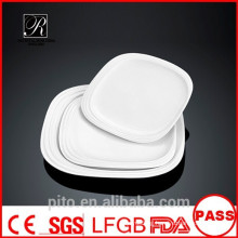 P&T chaozhou factory, white square plates, dinner plates, meat plates