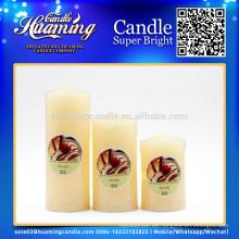 Huaming dekorierte Kerzen / Großhandel White Pillar Kerzen / weiße Säule Kirche Kerzen