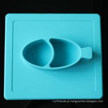 Bandeja antiaderida do jantar do bebê do silicone da segurança quente da venda