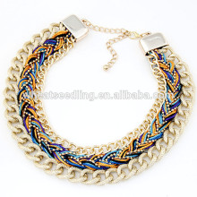 Hot selling handmade chain string best collar necklace