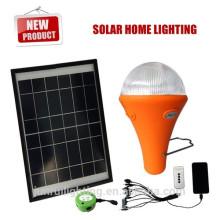 Recharge x ampoule LED avec panneau solaire, lampe portative, urgence léger (JR-SL988)