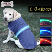 Gilet de sécurité LED Gilet de pluie imperméable Vêtements d'hiver pour animaux domestiques