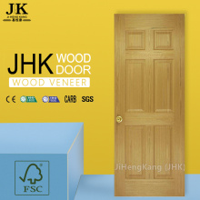 JHK-006 Natural Sepele 6 Panel Wood Grain HDF Porta interna