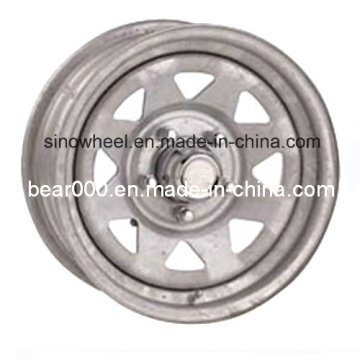 Galvanized Boat Trailer Steel Wheel Rim