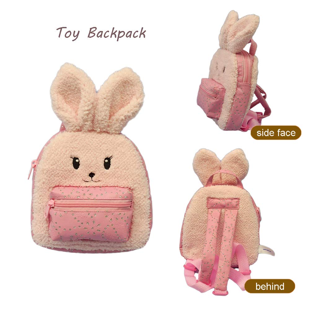 Animal Plush Rabbit Backpack 1
