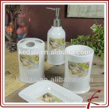 Керамические аксессуары для ванной комнаты 4шт для дома