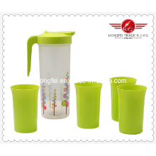 Jarro de plástico sem bpa com copo conjunto (lfr10754)