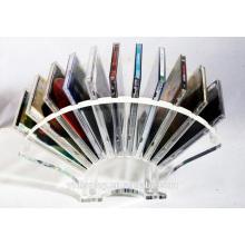 Hoher klarer Acryl-CD-Präsentationsständer