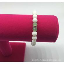 Bracelet en perles de verre avec perles (XBL13554)