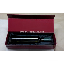 Red Gloss Cardboard Wine Packaging Gift Box