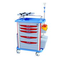 Carrinho médico para móveis hospitalares Carrinho de emergência ABS