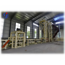Particle board line production