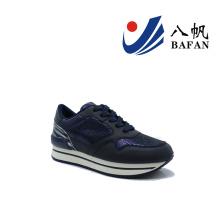 Mulheres moda casual tênis de corrida plana (bfj4201)