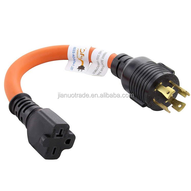 NEMA L14-30P to NEMA 6-20R Electric Extension Cord