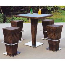 Bar Furniture PE Rattan Bar Table and Stools
